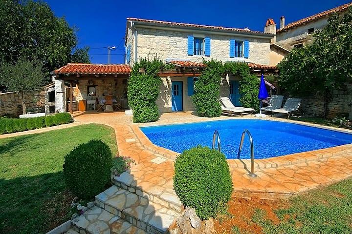 Rustikalna Villa Janko s bazenom i saunom