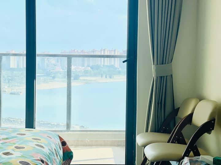 海花岛二号岛蜜月高层海景一居室