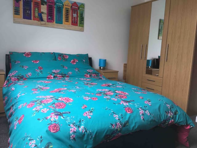 Double bed and double wardrobe