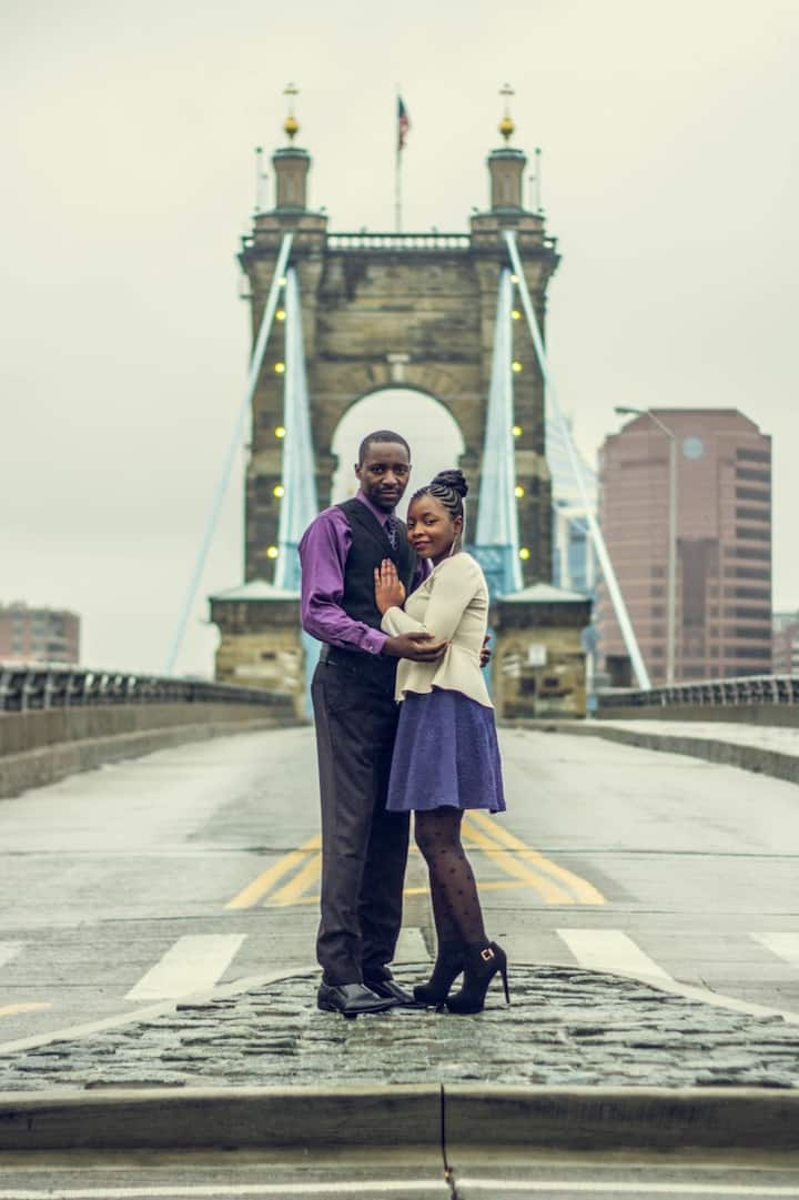 Great couple shot on the bridge