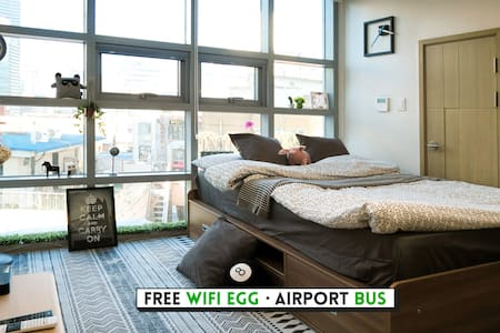 ★Big City View★MyeongDong Guest house - Jongno-gu - Apartamento