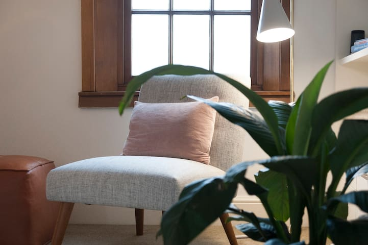 Relaxing lounge with plenty of gorgeous plants