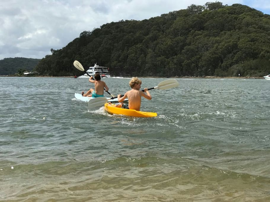 kayak on brisbane waters kayaks, surf skis, surfboards and stand up paddle board included