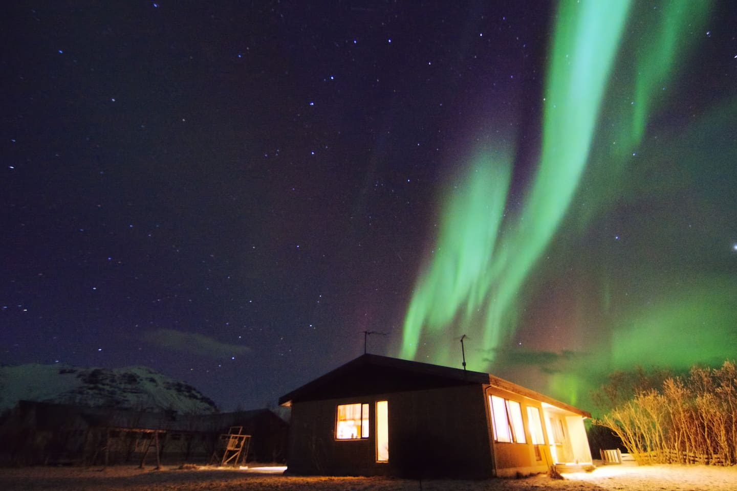 My house and the northern lights