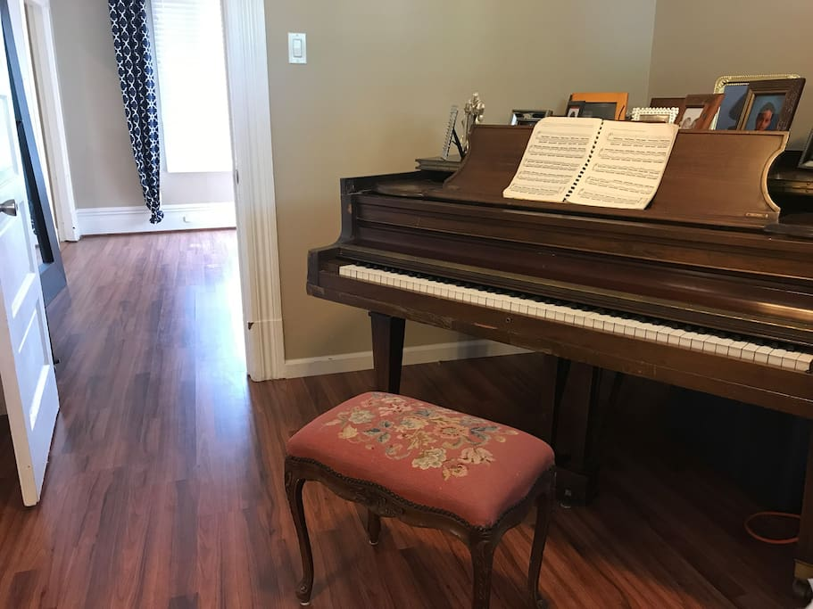 Baby Grand Piano and Bedroom