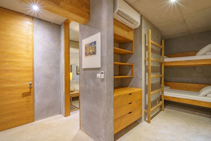 Second bedroom with one single and a bunkbed