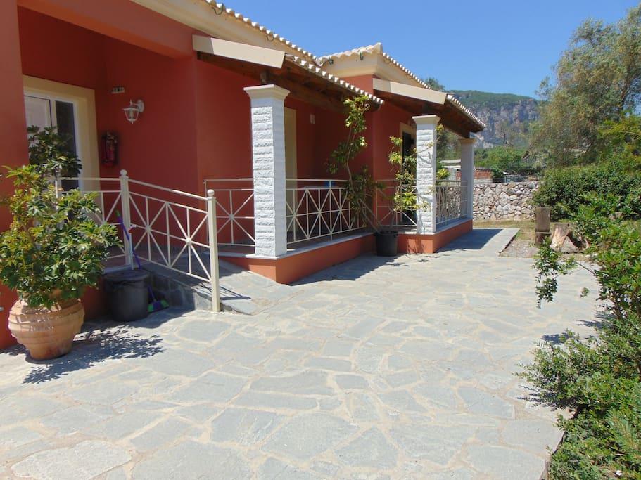 right of the villa