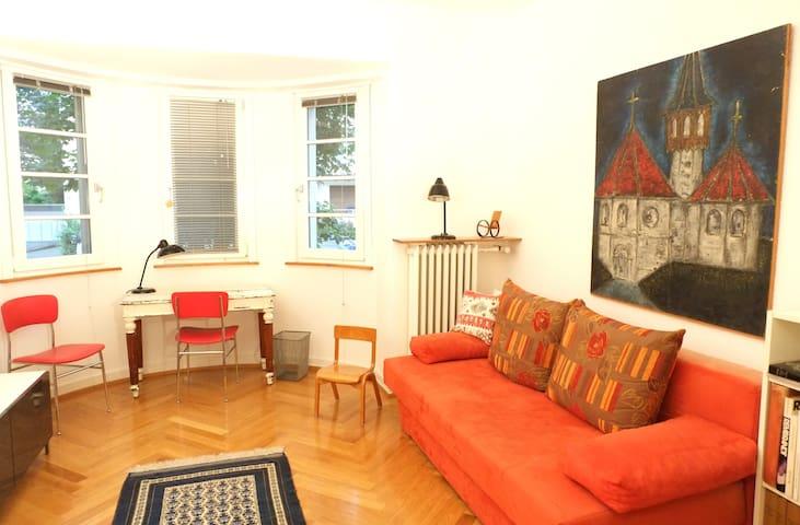 Stilvoll Altbau-Zimmer Bad Terrasse - Frankfurt - House