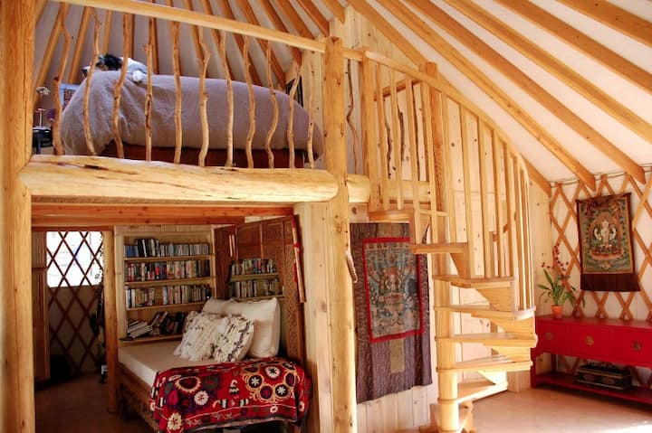 Experience living off the grid in a luxurious yurt