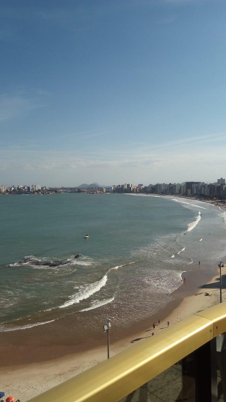 Cobertura frente pra praia do Morro c/piscina