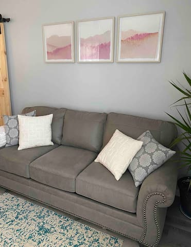 Brand new queen sofa sleeper with memory foam mattress and topper.   Two, twin-size inflatable mattresses are available too.