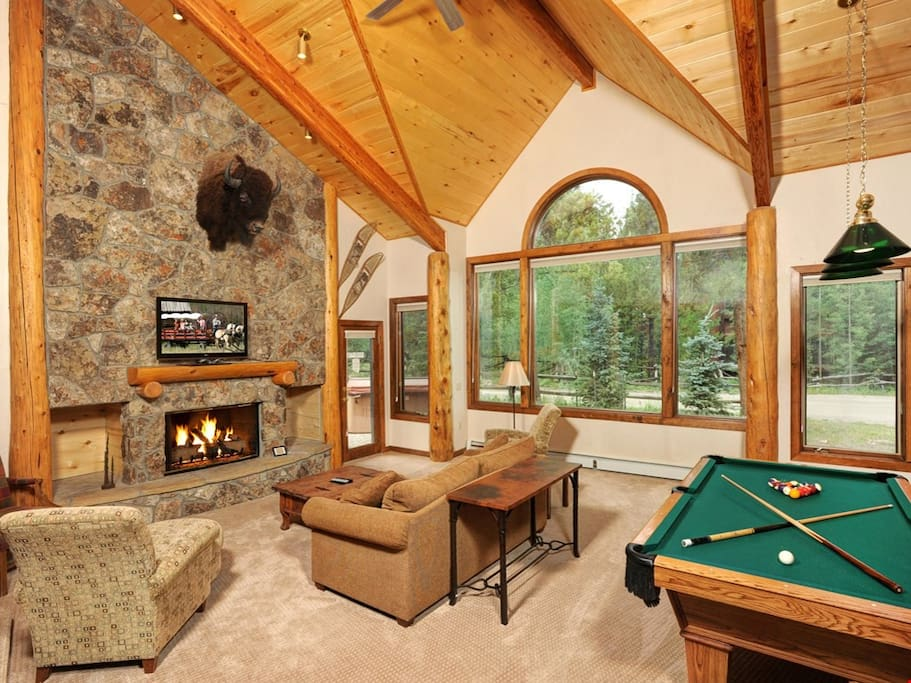 The living area is spacious and cozy