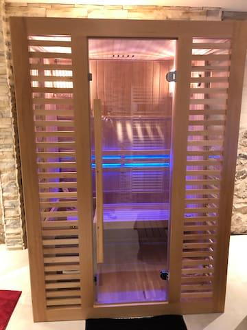 Gîte avec accès privatif au spa(jacuzzi et sauna)