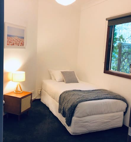 Third bedroom has king size single.