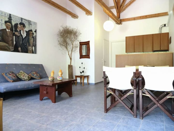 Sunny apartment with garden On the Beach, Methoni