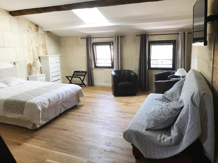 Wide bedroom for 2 to 6  with your own bathroom