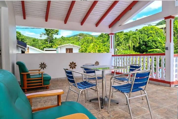 Property with 2 bedrooms in Vieux-Habitants, with wonderful sea view, furnished garden and WiFi