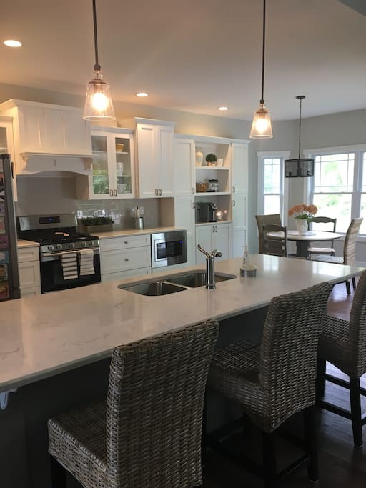 Kitchen with great island to entertain!