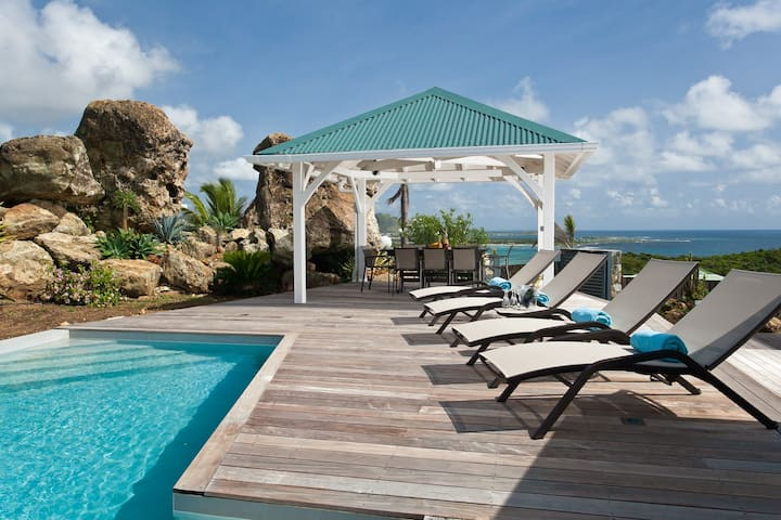 Les Alizés, magnifique villa avec vue imprenable