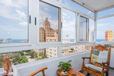 Sea view apartment with WiFi access