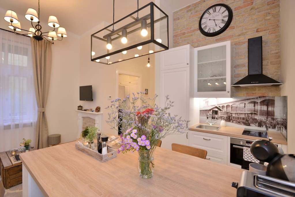 The kitchen is fully equipped with all modern appliances for your comfort