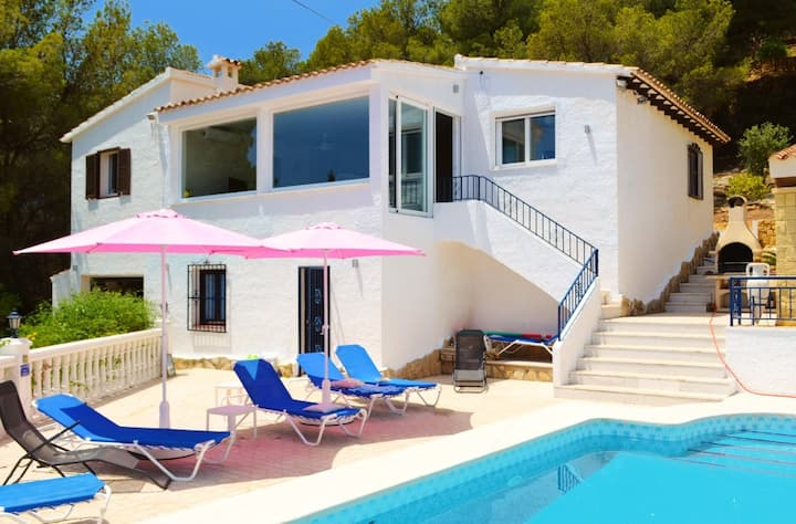 Ibiza style villa with private pool near Altea