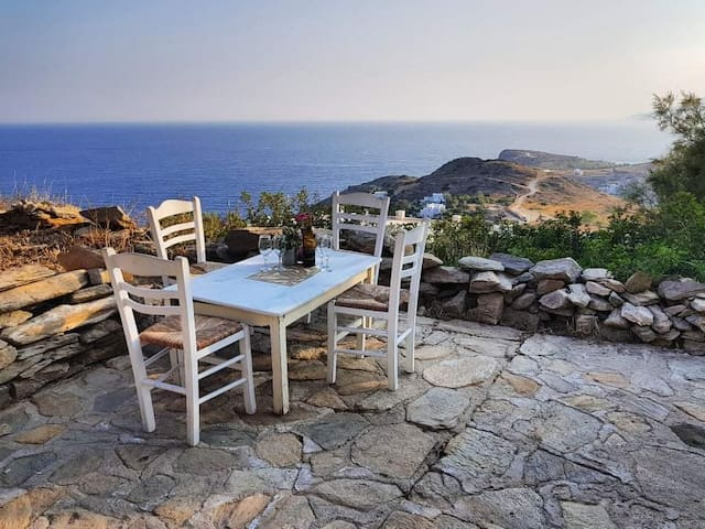 Rustic Stone Cottage with Breathtaking view on Ios
