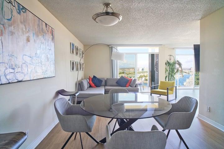Artistic Penthouse Style Mesmerizing Marina Views