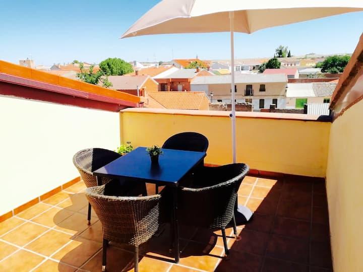 Apartamentos Alcabón + terraza