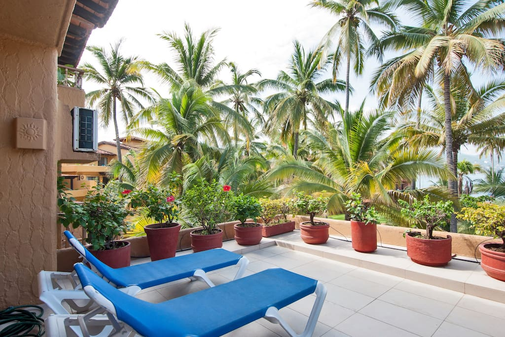 Huge terrace with view of Banderas Bay and Puerto Vallarta