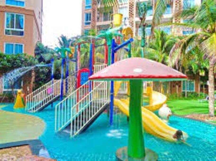 The childrens pool area