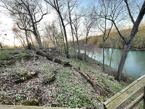Cabin on Shoal Creek with a view