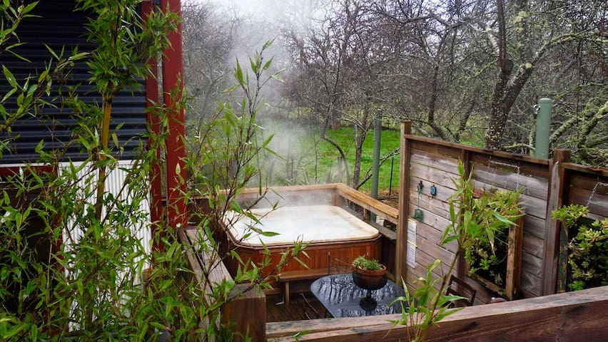 Texada Art Retreat;hot tub