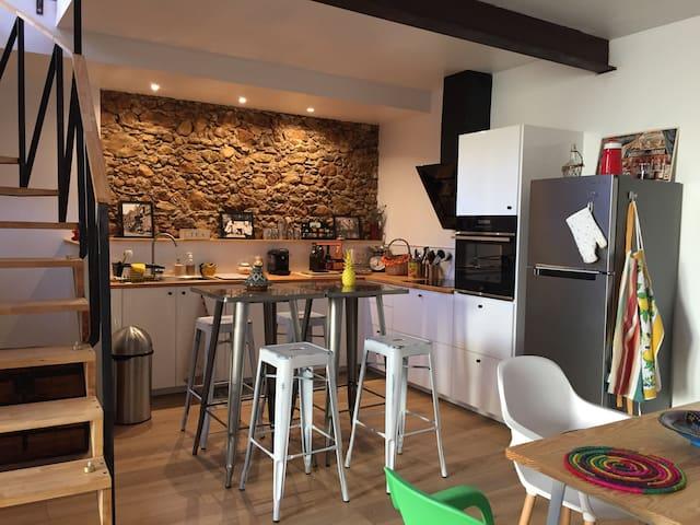 L'Oliba, a loft in a catalan town near Perpignan