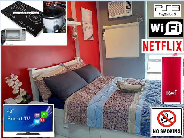 WIL studio @1299 (2pax), WiFi/PS3/NETFLIX (NOV)