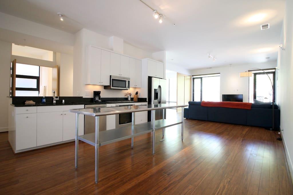 First Floor Kitchen & Living Room