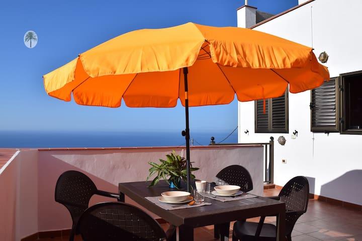 Acogedor apartamento con vistas al mar en el Sur. - Vallehermoso - Apartamento