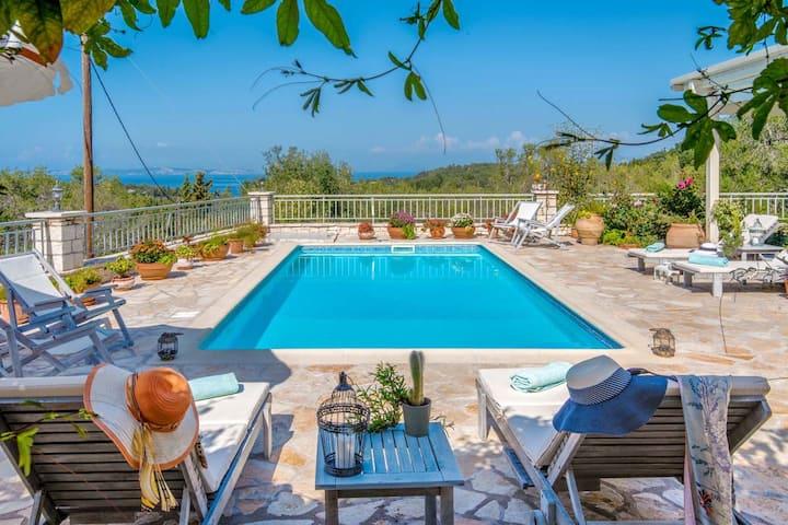 Stone Pool Villa Alina with Seaview