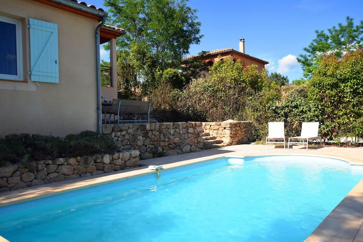 Spacious Villa in Joyeuse with Swimming Pool