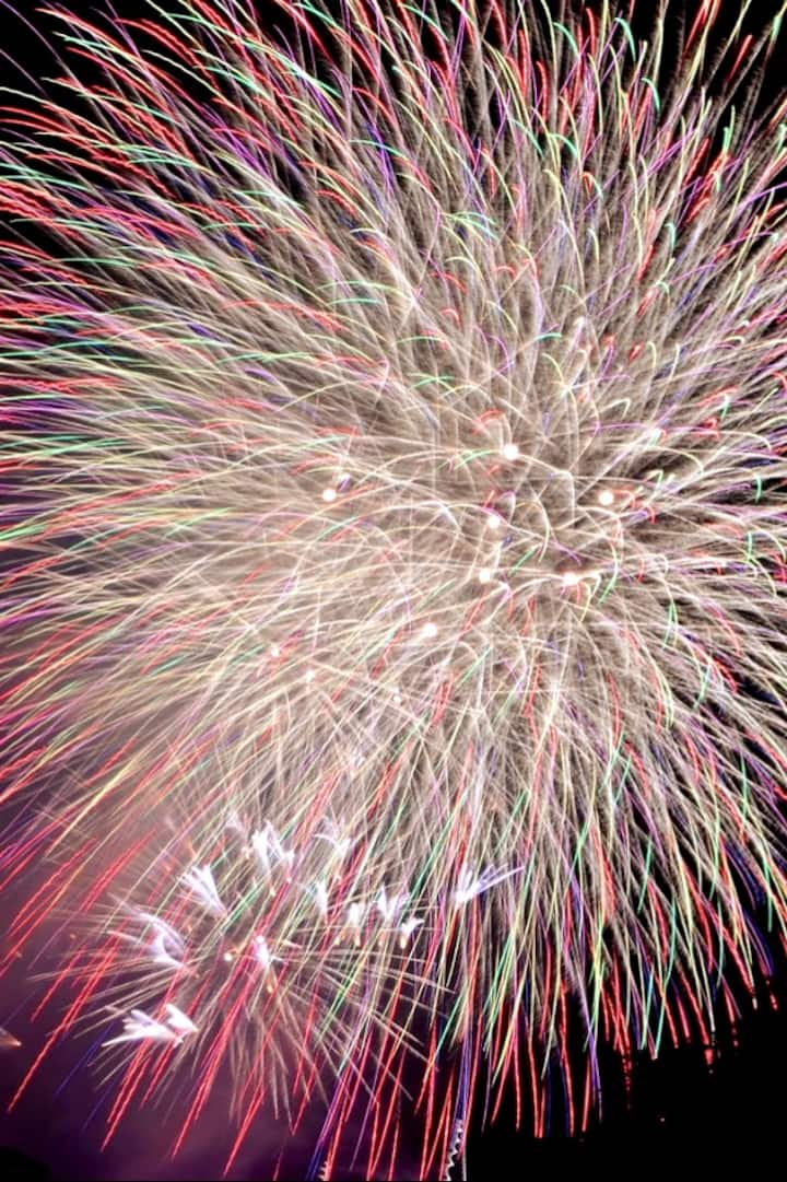Feel the sound of fireworks just beneath