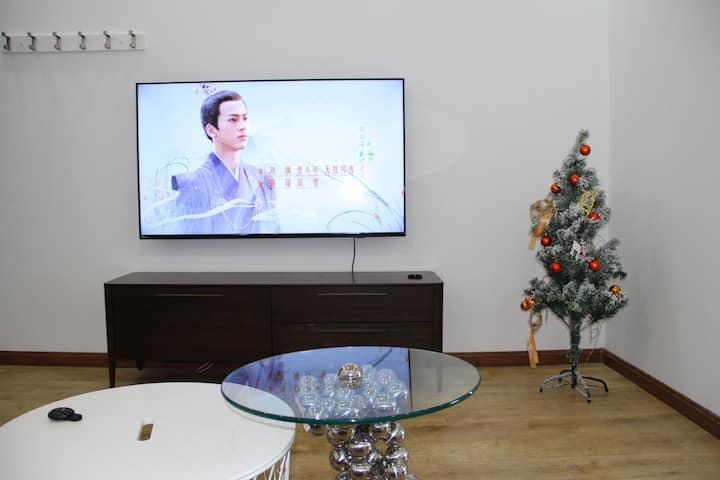 一室一厅一卫~80平米大空间~大津城旁~ 奥城十分钟驾车~奥林匹克中心