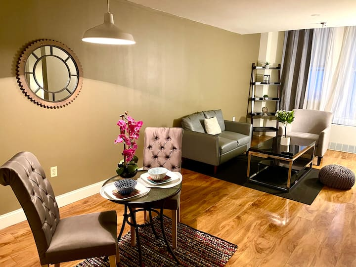 Comfy 1 BR Apt Fast WiFi Smart TV - Downtown