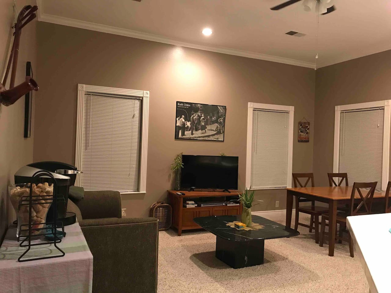 Your private second floor one bedroom apartment.