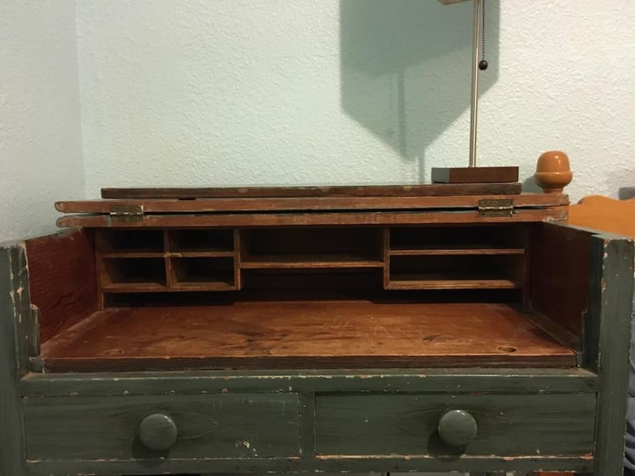 Get some work done on this vintage 1904 secretary desk!