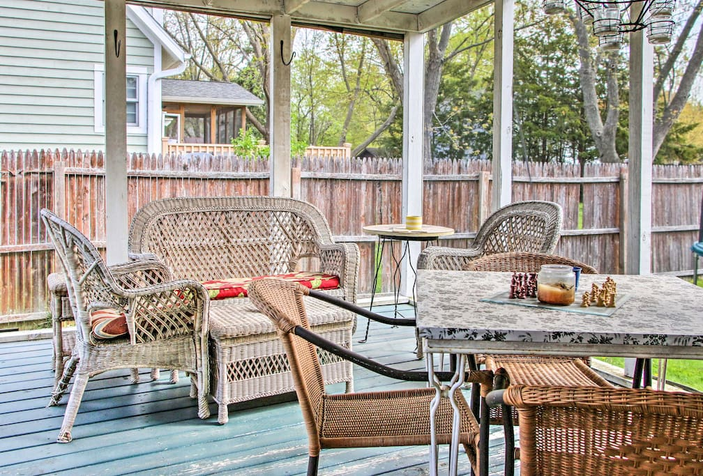 This 3-bedroom, 2-bath home sleeps 6 and boasts a great patio and yard space.