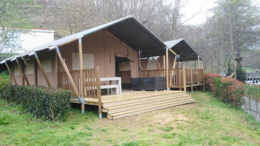 Lodgetent with private bathroom Le Canigou - Espira-de-Conflent - Barraca
