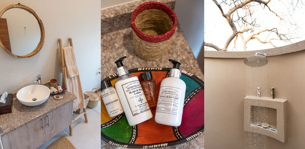 Rooibos Bush Lodge - Luxury Africology toiletries supplied