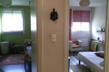 point de vue chambre et salle de bain