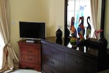 Smart TV and lots of drawers!