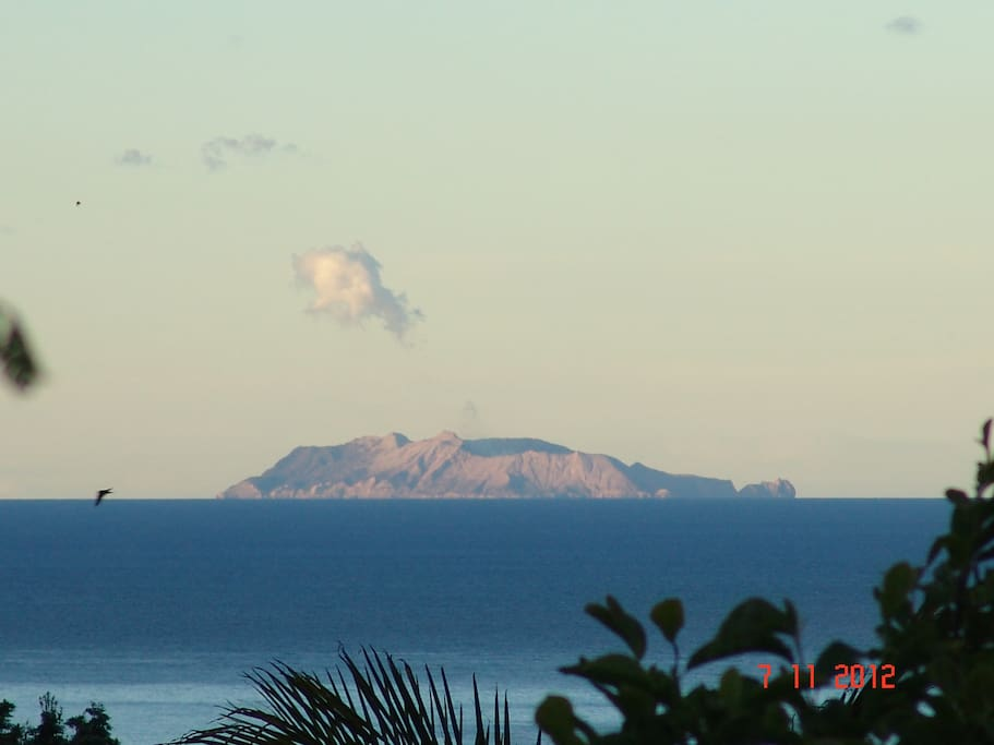 White Island from our deck